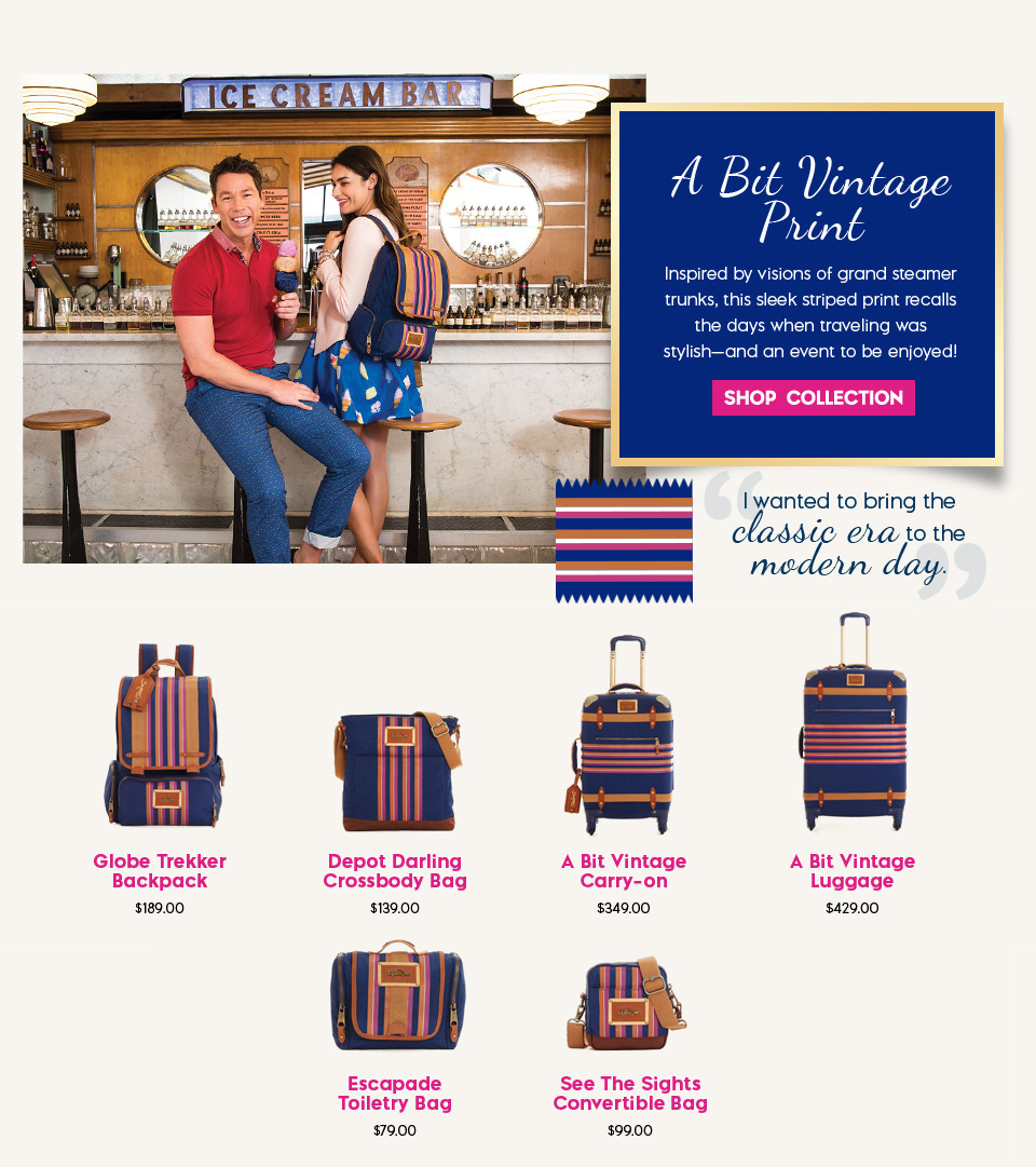 David Bromstad Vintage Print Bags & Luggage Collection