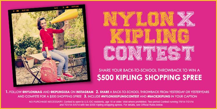 Nylon X Kipling Contest