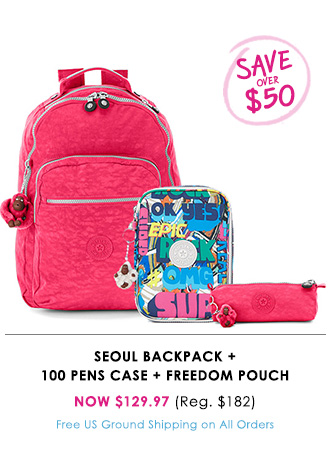 Seoul Backpack + 100 Pens Case + Freedom Pouch