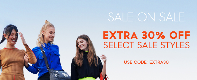 Extra 30% off select sale styles  extra30