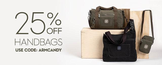 25% OFF handbags Use Code:ARMCANDY