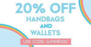 20% off handbags