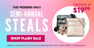 Semi-Annual Steals Starting $19.99