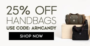 25% OFF handbags Use Code:ARMCANDY