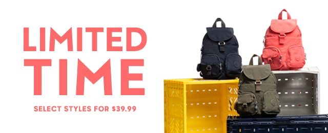 Limited time select styles $39.99