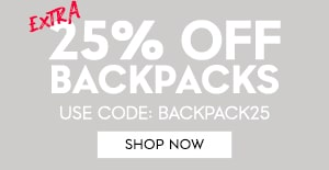 extra 25% off backpacks