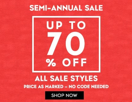 upt to 70% off sale items no code needed