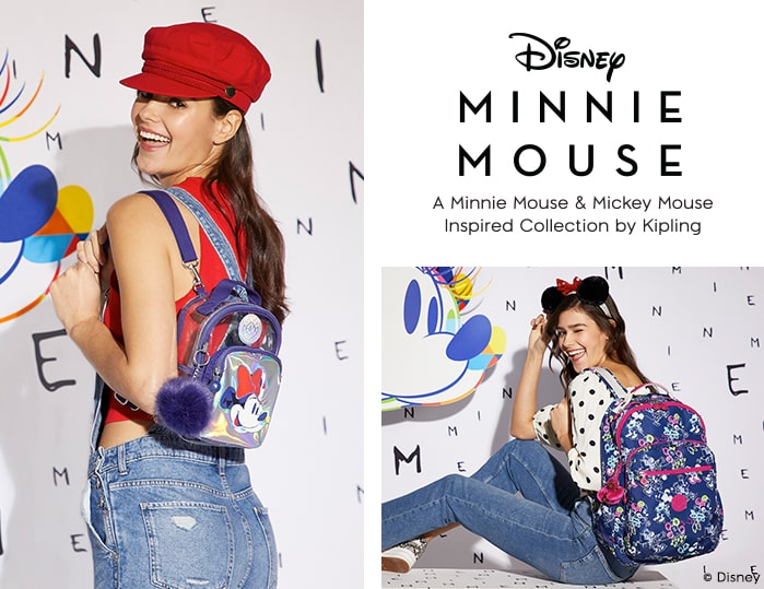 DISNEY Minnie Mouse & Mickey Mouse inspired Collection by Kipling