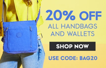 TAKE AN EXTRA 20% off handbags and wallets