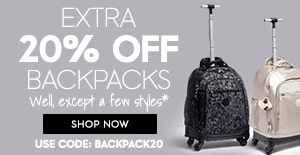 20% off backpacks