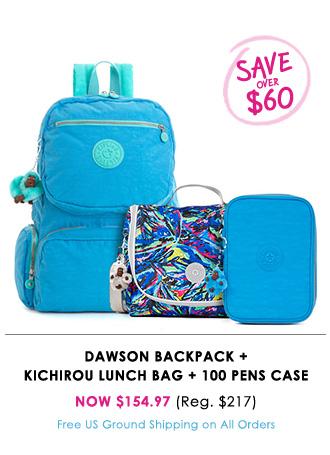 Dawson Backpack + Kichirou Lunch Bag + 100 Pens Case