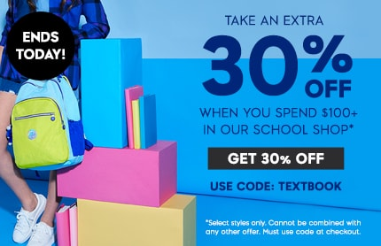 TAKE AN EXTRA 30% off school