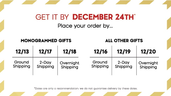 Shipping calendar