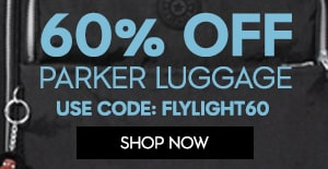 60% Parker Luggage use code FLYIGHT60