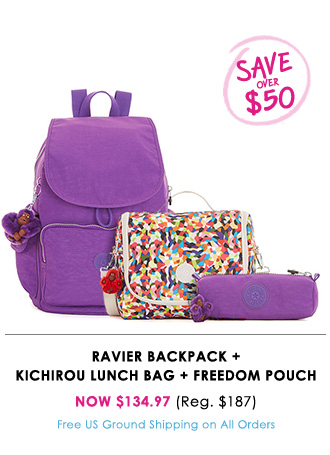 Ravier Backpack + Kichirou Lunch Bag + Freedom Pouch