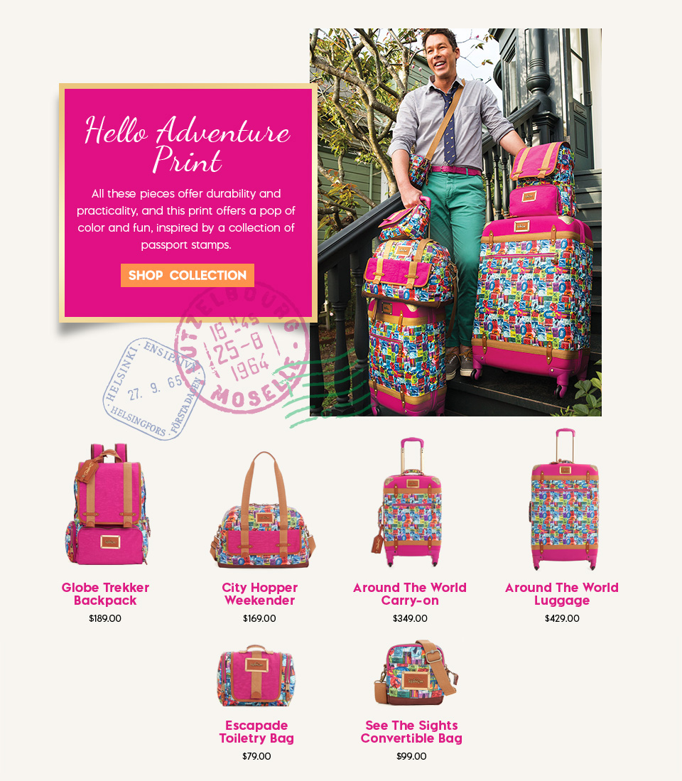 David Bromstad Adventure Print Bags & Luggage Collection