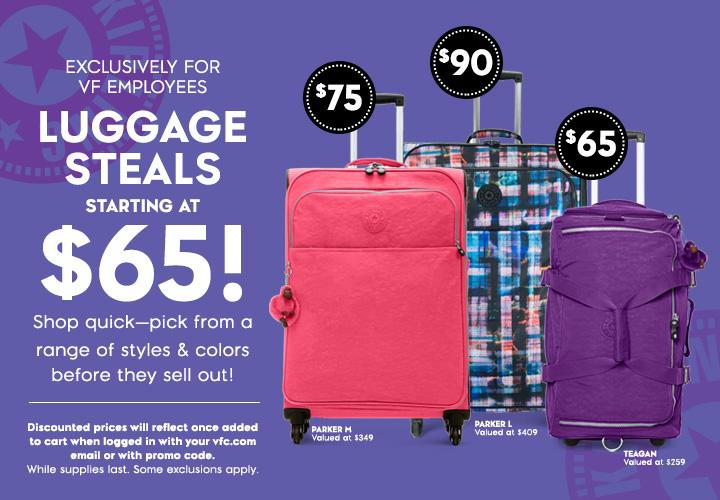 Employee Luggage Sale