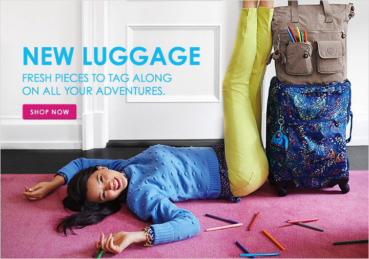New Luggage - fresh pieces to tag along on all your adventures